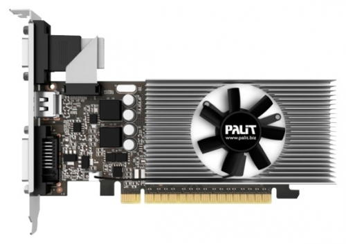 Видеокарта Palit PCI-E GeForce GT730 1Gb/64bit/GDDR5/DVI/HDMI/VGA/Cool/Rtl