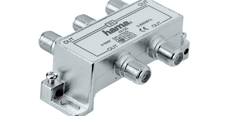 Делитель Антенный SP-04 1(F) ->4 (F)-штекер (f), металл