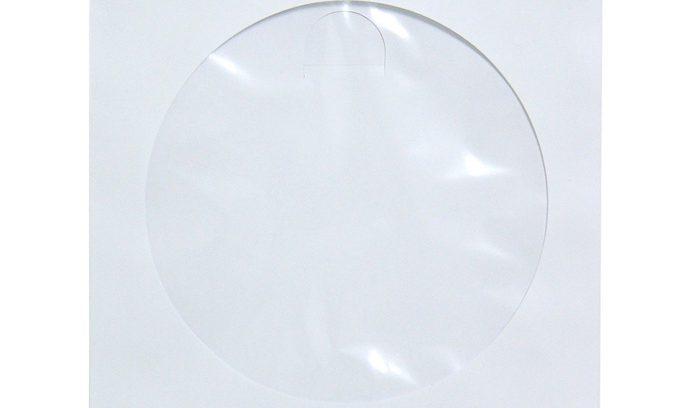 Конверт для CD/DVD бумажные с прозрачным окошком,белый, Hama H-51173