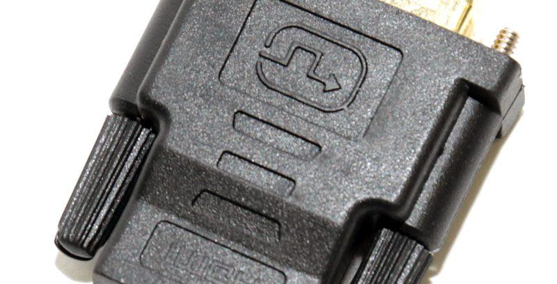 Переходник DVI (24+1) M/HDMI F, 5bites DH1803G зол.разъемы