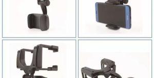 Автодержатель для смартфонов с креплением на Зеркало заднего вида