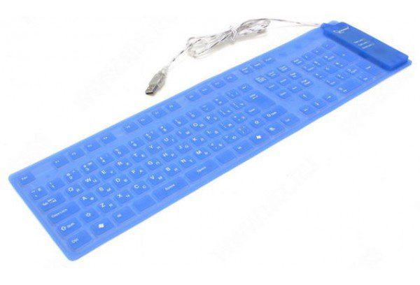 Клавиатура Gembird KB-109F-RU Гибкая силиконовая,USB+PS/2