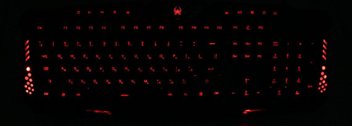 Игровая Клавиатура Gembird KB-G11L USB/3Подсветки/10доп.клавиш