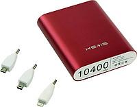 Портативный аккумулятор 10400мАч KS-is KS-239Red+переходники