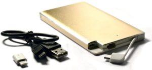 Портативный аккумулятор 6000мАч KS-is KS-277Gold, MicroUSB