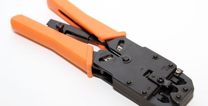 Клещи 5bites LY-T2008R обжимные для 8P+6P/DEC+4P с фиксатором