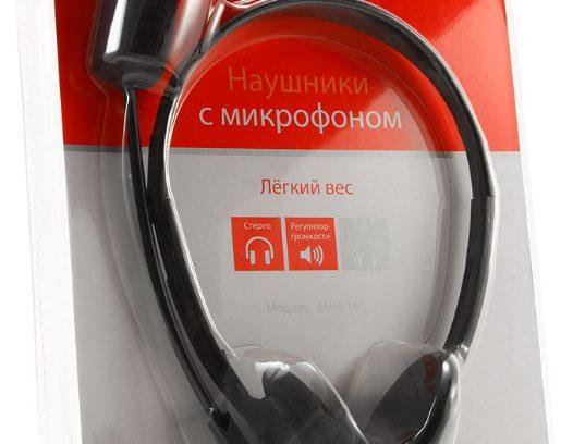 Гарнитура Gembird MHS-100 рег.гром/Микрофон/1,8м