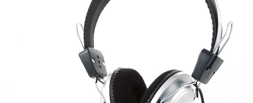Гарнитура Gembird MHS-300 Сереб-Черный/рег.гром/Микрофон/1,8м