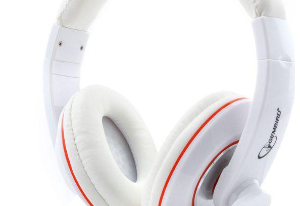 Гарнитура Gembird MHS-780 Белый рег.гром/Микрофон/1,8м