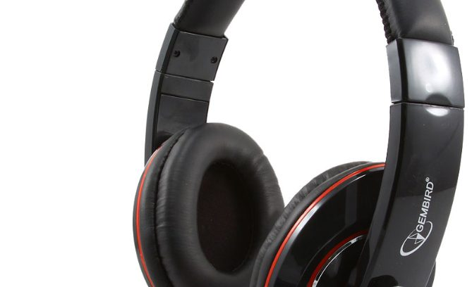 Гарнитура Gembird MHS-780B рег.гром/Микрофон/1,8м