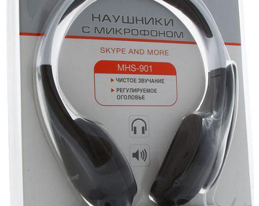 Гарнитура Gembird MHS-901 рег.гром/Микрофон/1,8м
