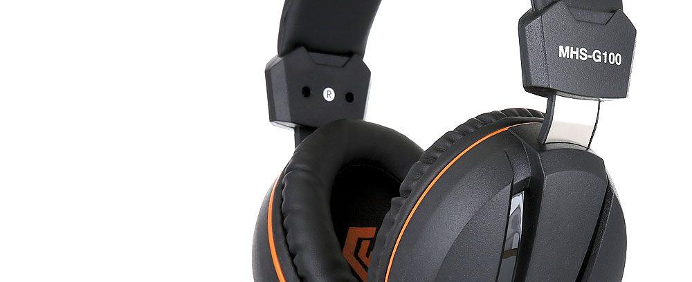 Игровая Гарнитура Gembird MHS-G100 черный/оранжевый,рег.громк,откл.микроф,2.5м