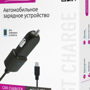 Автомобильное зарядное устройство Partner miniUSB, 1А