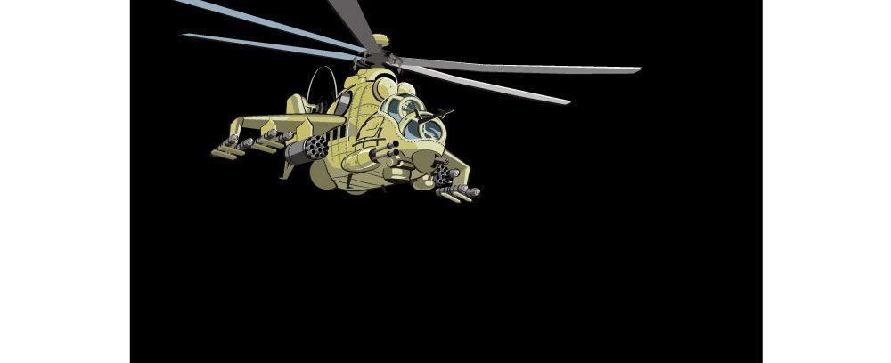 Коврик Gembird MP-GAME9/Вертолет (250*200*3мм)