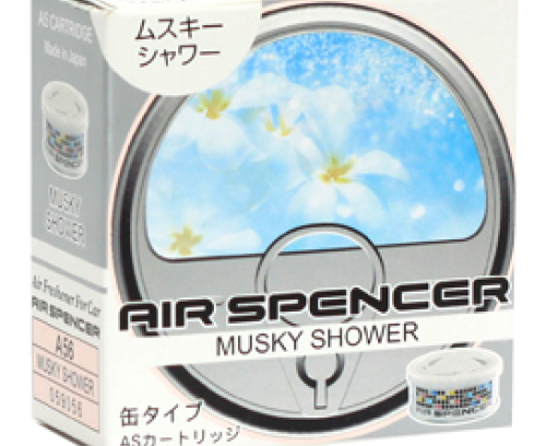 Ароматизатор EIKOSHA Air Spencer/Musky Shower (Мускусный Дождь)(A-56) в Авто