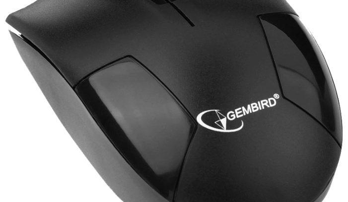Мышь Gembird MUSW-300 черный/USB/1000DPI Беспроводная