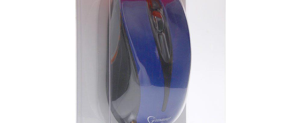 Мышь Gembird MUSW-325-B синий/USB/1000DPI Беспроводная