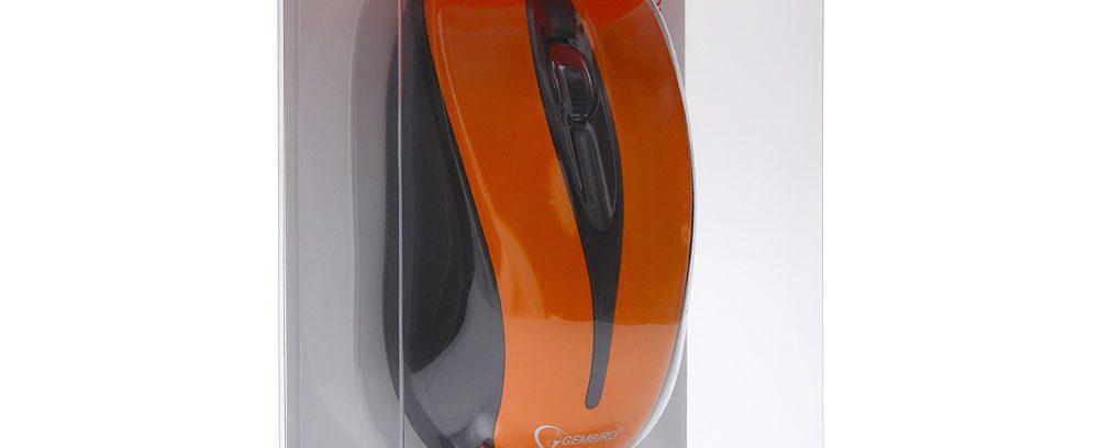Мышь Gembird MUSW-325-O оранж/USB/1000DPI Беспроводная