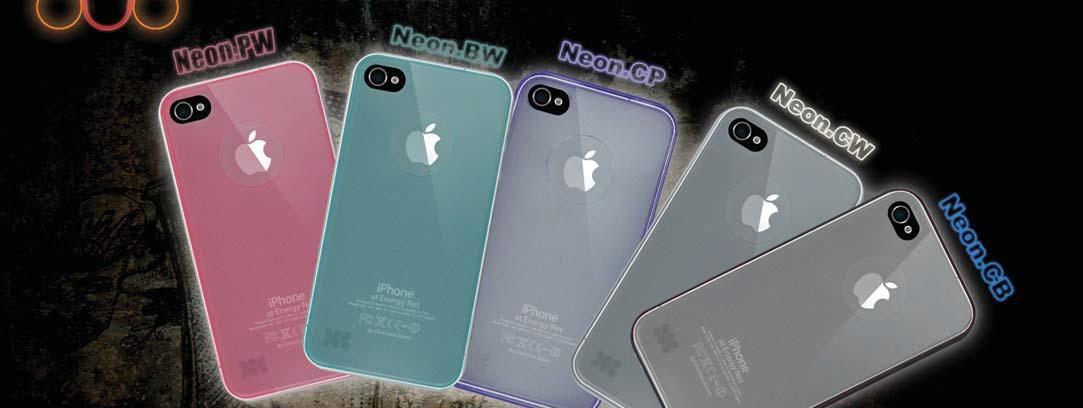 Флуоресцентный пластиковый чехол для iPhone 4 (Neon)