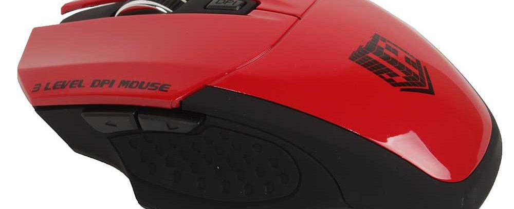Мышь Jet.A Comfort OM-U38G Красная беспроводная