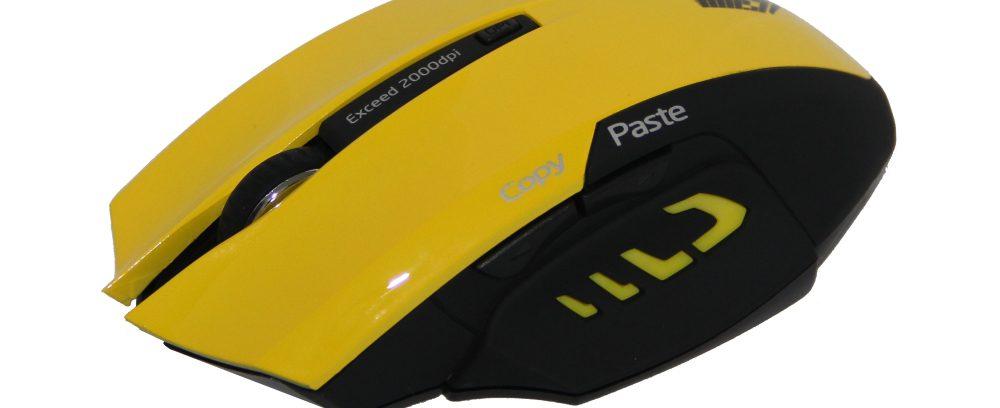 Мышь Jet.A Comfort OM-U54G Yellow беспроводная/5кнопок