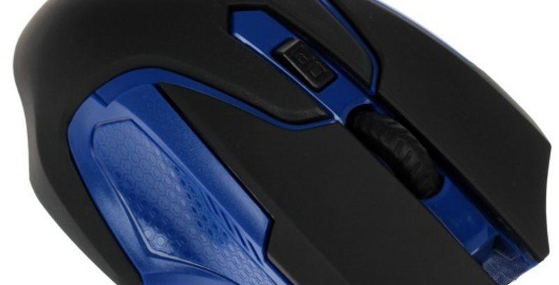 Мышь Jet.A Comfort OM-U57G Black-Blue беспроводная/3кнопки