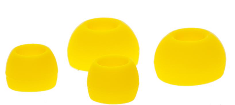 Наушники внутриканальные Partner Positive,пластик,плоский кабель,зелено-желтые