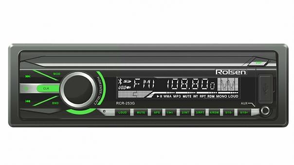Автомагнитола ROLSEN RCR-253G 1DIN/USB/SD/AUX/FM/AM/4x45Вт
