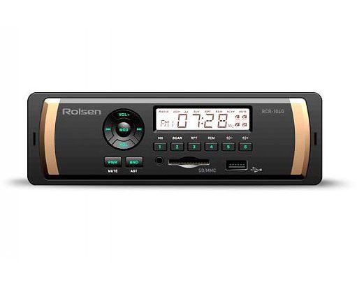 Автомагнитола ROLSEN RCR-104B 1DIN/USB/SD/AUX/FM/MP3/4x45Вт/Черный