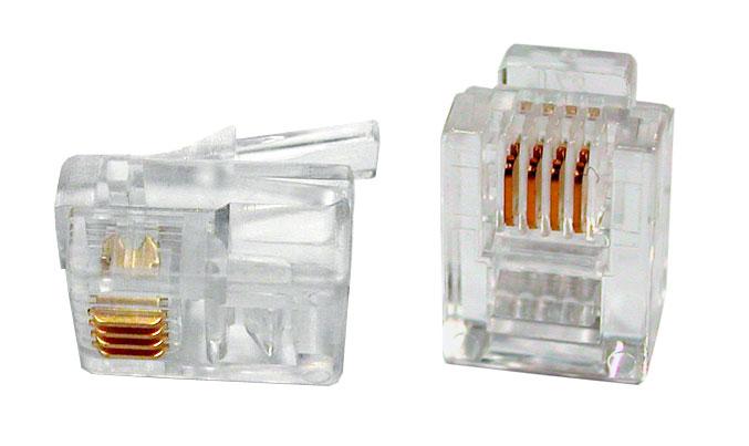 Коннектор RJ12 6P4C позолоченные контакты