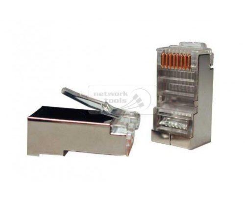 Коннектор 5bites US006A RJ-45 8p8c, зол.напыление, экран.