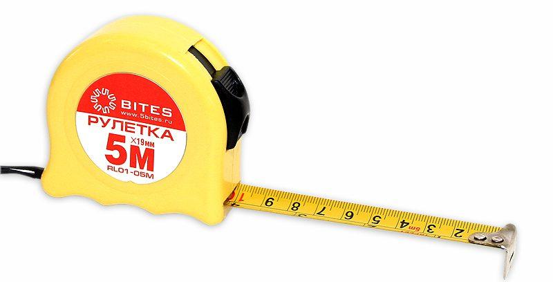 Рулетка измерительная 5bites RL01-05M 19мм * 5м