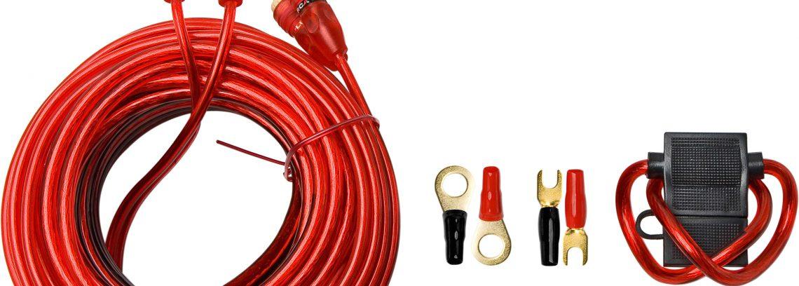 Набор проводов для 2-х кан.авто-усилителя,SUPRA SAK 2.10