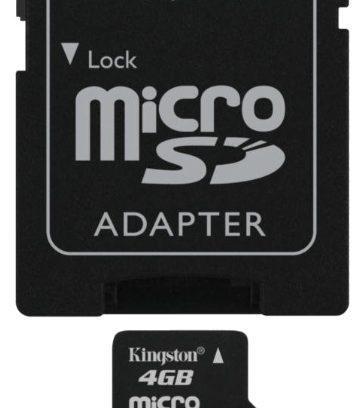 Карта памяти Micro Secure Digital Card 4GB KINGSTON + адаптер SD Class 10