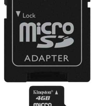 Карта памяти Micro Secure Digital Card 4GB KINGSTON + адаптер SD Class 10