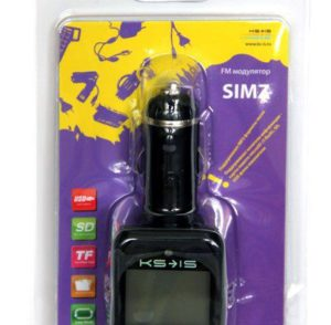 FM модулятор KS-is Simz (KS-162) MP3/USB/SD/MicroSDдо16Гб/ПультДУ
