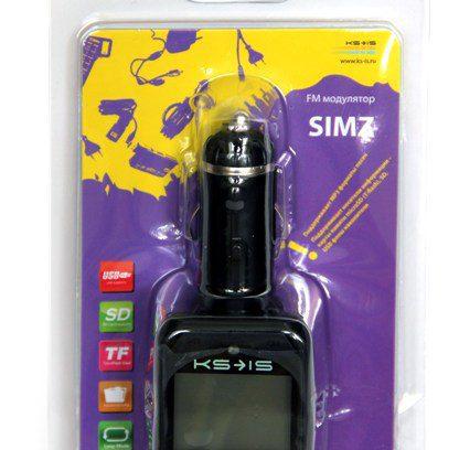 FM модулятор KS-is Simz (KS-162) MP3/USB/SD/MicroSDдо16Гб/ПультДУ