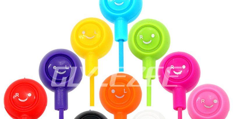 Наушники внутриканальные Glylezee Smile, пластик, черные