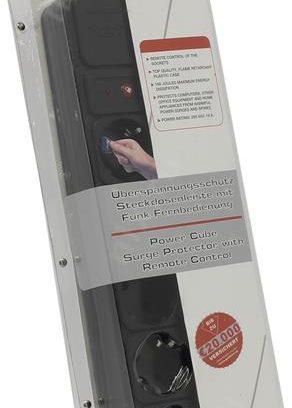 Сетевой фильтр Gembird SPG-RM черный 5 розеток,Вкл/Выкл. с пульта 1.8м