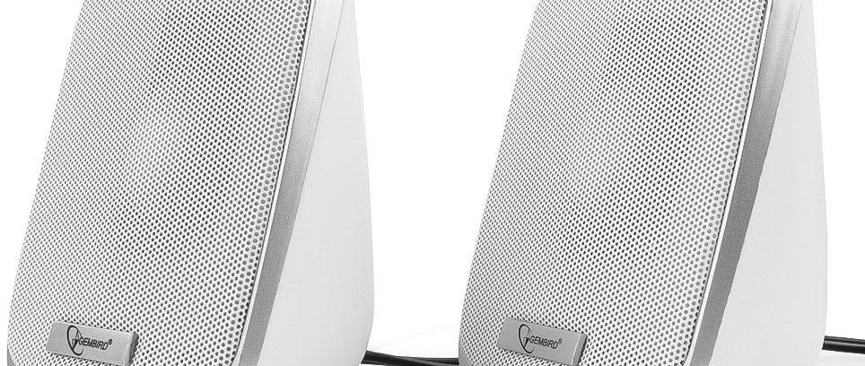 Ак.система 2.0 GEMBIRD SPK-100,USB,Белый,6Вт