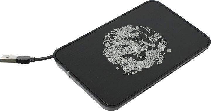 "AgeStar SUB2A8,black Внешний корпус для 2.5""SATA-устройств, USB2.0,алюминий"