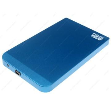 """AgeStar SUB2O1 blue Внешний корпус для 2.5"""" SATA-устройств, USB2.0, алюминий"""