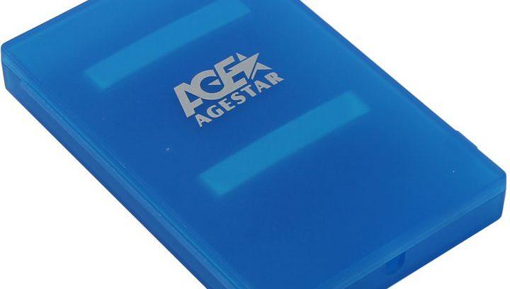 """AgeStar SUBCP1 Blue Внешний корпус для 2.5""""SATA-устройств, USB2.0,пластик"""