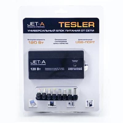 Адаптер питания для ноутбука Jet.A Tesler JA-PA8 120Вт универсал/USB