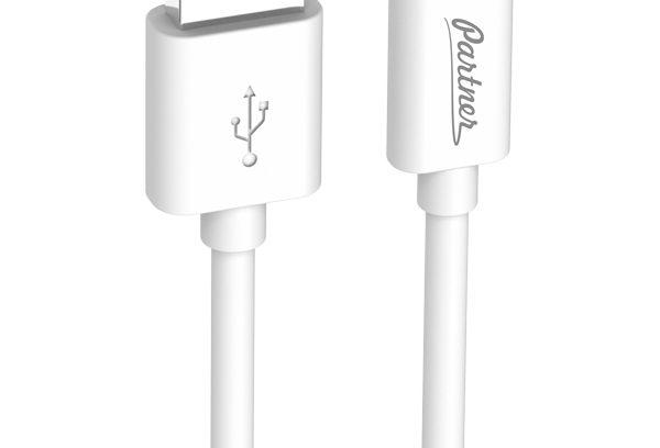 Кабель USB 2.0 - USB Type-C, Partner, Белый 1м
