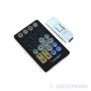 ТВ-FM-тюнер ICONBIT TV-HUNTER DIGITAL USB Stick U200 DVBT, пульт ДУ