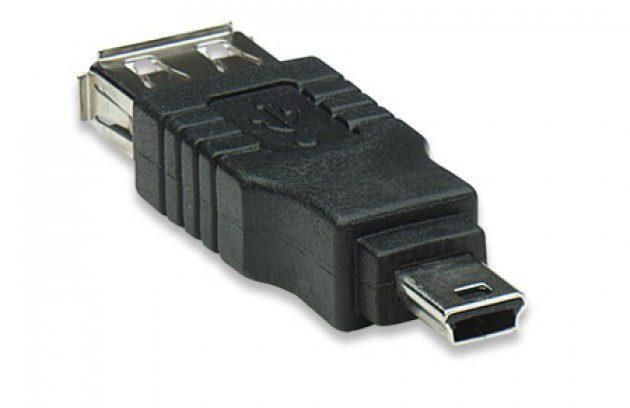 Переходник OTG USB Mini, 5pin (M) --> USB (ВM) 5bites UA-AF-MIN5