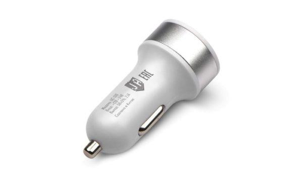 Авто-зарядное уст-во 12В-24В==>>2USB 2.1A+Каб.MicroUSB, Jet.A UC-S16 Белое