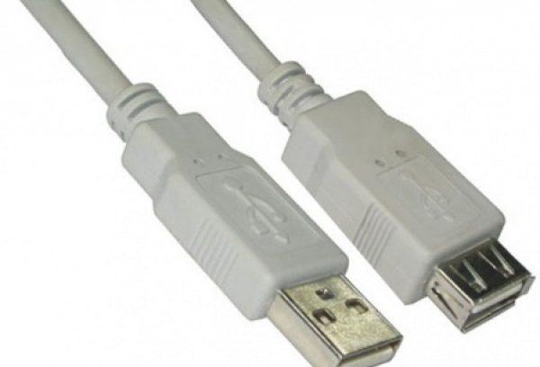 Кабель удлинитель USB2.0, AM/AF, 5bites UC5011-050C 5м.