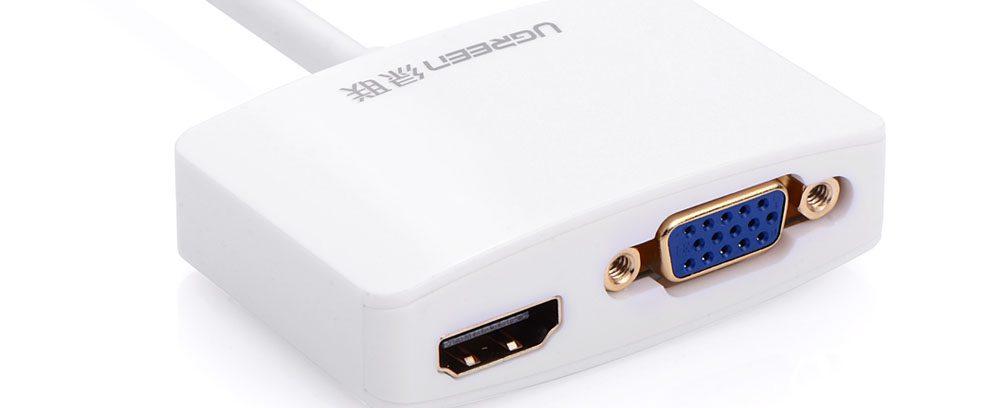 Мультимедиа professional конвертер Mini Display Port/VGA+HDMI UGreen UG-10427 бе